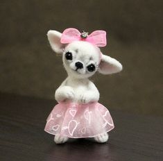 ChihuahuaChihuahua felted needle felted animal needle felt
