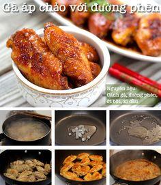 Thêm một thực đơn không dầu mỡ cho bạn ngon cơm Viet Food, Cooking Recipes, Healthy Recipes, Asian Cooking, Food Design, Chicken Wings, Food To Make, Roast, Clean Eating