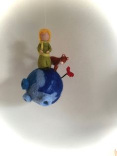 Mobile, Prince and fox,Felted. Waldorf