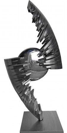 Sculpture Inox - Stainless Steel Sculpture 1 m 90 de Guillaume Roche