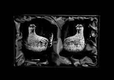 Pair of Red Grouse on Whisky Glasses