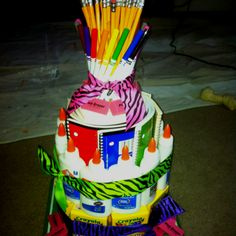 Teacher Supply Cake