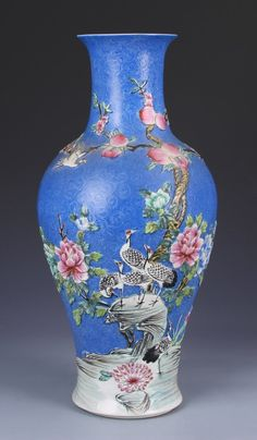 Lot: Chinese Carved Famille Rose Vase, Lot Number: 0357, Starting Bid: $250, Auctioneer: Essex Auction and Estate Services, Auction: Asian Fine Art and Antiques, Date: April 18th, 2014 SAST