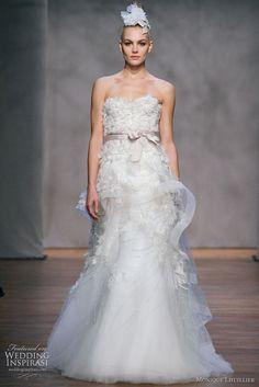 Monique Lhuillier #wedding #dress
