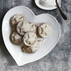 Porto Stoneware Heart Plate - Large from The White Company