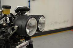 Dual Double Black Dominator Streetfighter GSF600 Retro Motorcycle Motorbike 35 Watt Headlight: Amazon.co.uk: Car & Motorbike