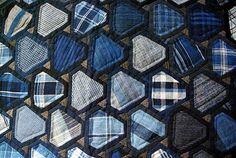 Voyage à Nantes – Exposition « Pour l'amour du fil Tokyo Style, Plaid Quilt, Japanese Quilts, White Quilts, Diy Patches, Diamond Quilt, Shirt Quilt, Japanese Design, Shibori