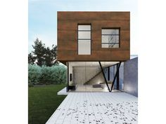 Revestimento de parede ultra-fino com efeito metal para exterior STEEL CORTEN Coleção Steel by Levantina