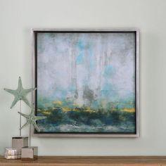 Traditional Art, Aqua Blue Abstract Art, Canvas Art, Abstract Art