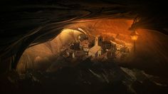 City of Ember City Of Ember, Black Saturday, Underground Cities, Wishing Well, Family Adventure, Antelope Canyon, Amazing Art, Street Art, Illustration Art