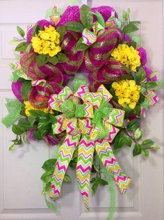 Mesh Wreath on Etsy, $85.00