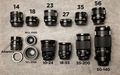 Arias Fuji X Buyer's Guide. Part Lenses And here is part 2 of Zack s Fuji X Buyer s Guide this time it s all about the lenses. No XC lenses and XF in this Buyers Guide (since he doesn t use them). At the end he recommends the ideal kit for:… Photography Supplies, Photography Lessons, Photography Camera, Photography Equipment, Digital Photography, Street Photography, Camera Hacks, Camera Gear, Camera Rig