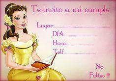 Invitación de Cumpleaños Disney para Chicas. Princess Theme Birthday, Framed Letters, Ideas Para Fiestas, Party Printables, Baby Shower, Invitations, Disney Princess, Cards, Samara