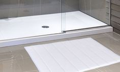 """Royal Bath Collection Luxurious Memory Foam Solid Color Large (21"""" x 34"""") Bath Mat with Anti-Slip Latex Backing (White)"""