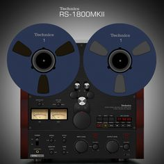 Technics RS-1800MKII Reel to Reel Render | Here is my rendit… | Flickr
