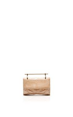 Mini Fabricca In Sand Crocodile by M2Malletier for Preorder on Moda Operandi