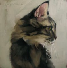 High Jinks a cat painting by Diane Hoeptner, painting by artist Diane Hoeptner