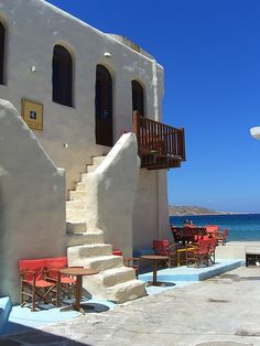 Cafe in Paros, Greece