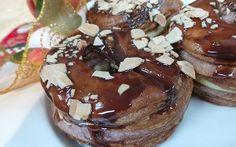 Resep Kue: Yam Cronut Cronut, Yams, Cereal, Pancakes, Pudding, Breakfast, Desserts, Food, Morning Coffee