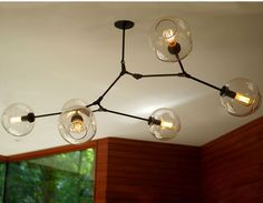 Lindsey Adelman - Agnes Chandelier with 6 bulbs in Brushed Brass ...