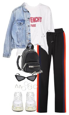 """Untitled #5566"" by theeuropeancloset on Polyvore featuring Kenzo, Balenciaga, Levi's, Alexander Wang and Orelia"