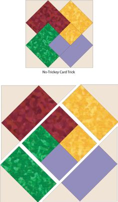 Debby Kratovil Quilts: No-Tricky Card Trick – und FREE Pattern - Patchwork Paper Piecing Patterns, Quilt Patterns Free, Pattern Blocks, Free Pattern, Simple Quilt Pattern, Quilt Block Patterns 12 Inch, Patchwork Patterns, Sewing Patterns, Quilting Designs