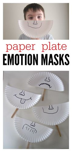 Paper Plate Emotion Masks