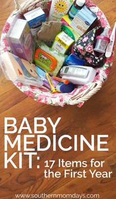 Be prepared during baby's first year with this list of 17 must-have items for your baby medicine kit! (I actually still use all of these, and my daughter's almost 2.) Here's everything I needed in my baby medicine cabinet that first year and beyond for sick baby remedies that help – fast. ❤ sick baby | baby medicine | baby care | baby medicine kit infants | baby checklist #babymedicinekit #babychecklist #babymedicine