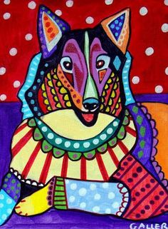 COLLIE Art - Pet Lovers - Collie Art Print Poster (HG318)