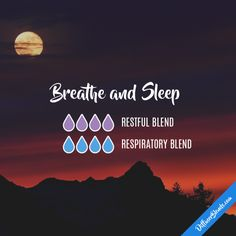 Breathe and Sleep - Essential Oil Diffuser Blend