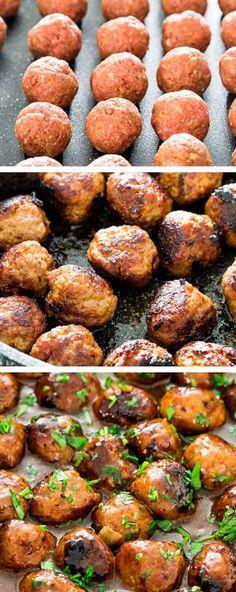 postup Masové kuličky s omáčkou - výborné k bramborovou kaši