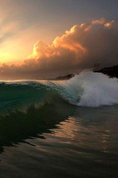 Wave Sunrise, Oahu by Freddy Booth
