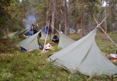 """Finnish """"Loue"""" shelters; canoeing down the Chirka-kem in Russia"""