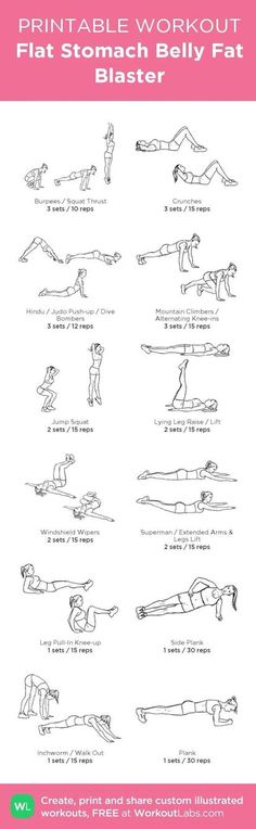 A printable workout plan for a flatter belly. Concerned about your health? TeddyCanHeal is here for you! Visit www.TeddyCanHeal.com today and see what we can do for you. #TeddyCan