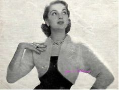 VINTAGE1950s ANGORA BOLERO/SHRUG KNITTING PATTERN | eBay
