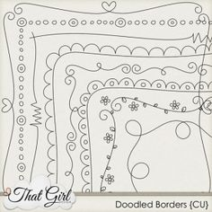 cute doodle borders by lana