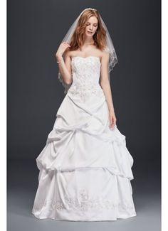 Satin Wedding Ball Gown with Drop Waist OP1291