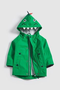 Buy Green Dinosaur Anorak from the Next UK online shop Fashion Niños, Girls Raincoat, Kids Clothes Sale, Rain Jacket, Bomber Jacket, Padded Jacket, Cath Kidston, Next Uk, Uk Online