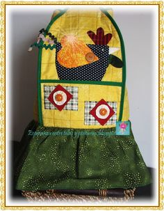 Forro Licuadora con Bolsillos Pot Holders, Apron, Projects To Try, Lunch Box, Image, Kitchen, Refashioned Clothes, Scrappy Quilts, Tablecloths