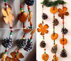 Guirnaldas de navidad con piñas y frutas » http://manualidadesnavidad.org/guirnaldas-de-navidad-con-pinas-y-frutas/ #Manualidades #Navidad
