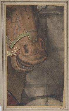 School of Raphael (Raffaello Sanzio or Santi) (Italian, 1483–1520). Horse's head, 1500-1550. The Metropolitan Museum of Art, New York. Gift of John W. Lisle, in memory of his father, Joseph William Lisle, 1922 (22.72.1)
