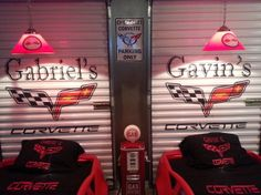 Gavin And Gabriels Corvette Themed Room We Decided To Combine Two Of Our Bedrooms So