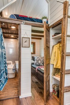 A high-end, custom tiny house on wheels built by New Frontier Tiny Homes in Nashville, Tennessee.                                                                                                                                                     More