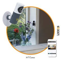 loooqs Wifi camera with ap to see on your mobile phone. coming in 2016... www.geminioctopus.co.za Wifi, Mirror, Phone, Home Decor, Telephone, Decoration Home, Room Decor, Mirrors, Phones