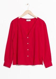 & Other Stories | V-Neck blouse