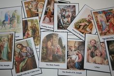 Free printable St Joseph card games (Go Fish or Concentration)