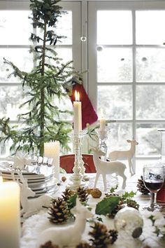 A danish retreat with vintage Christmas decorations