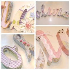 Like this DIY Cardboard letters with Scrapbook paper