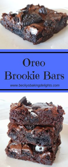 These Oreo brookie bars combine a rich, fudgy brownie made from scratch along with Oreo cookies. As these bars bake, the Oreo cookies become soft and chewy. A real treat for chocolate lovers!