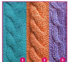 Básicamente se caracterizan por el cruzado de puntos. Se realizan pasando sin tejer una cantidad de puntos a una aguja auxiliar, se tejen l... Knit Or Crochet, Knitting Stitches, Cable Knit, Knitted Hats, Textiles, Blanket, Sweaters, Accessories, Fashion